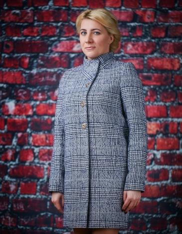 Рандеву демисезонное пальто (клетка)