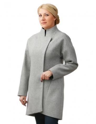 Лузана  демисезонное пальто ( серый )