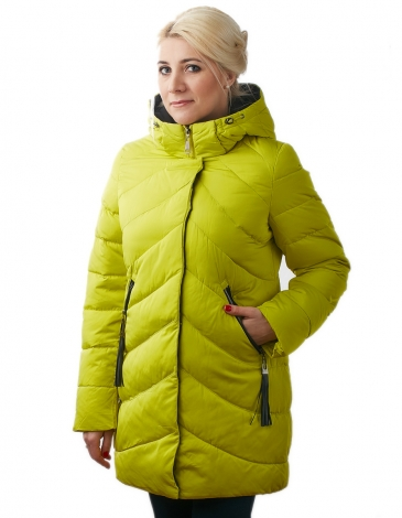 Полина  куртка зимняя (лайм)