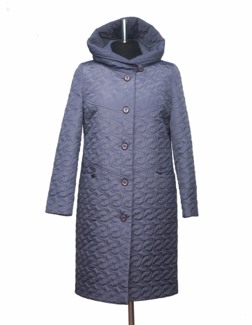 Юна  демисезонное стеганное пальто .