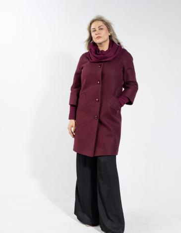Кристина  демисезонное пальто  (вино )