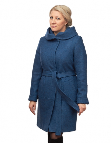 Дана  демисезонное пальто  (василек )