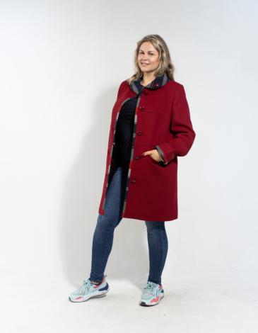 Рема демисезонное пальто ( Вишня )