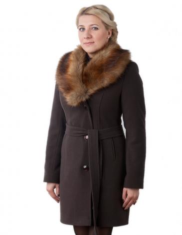 Бренд пальто зимнее (шоколад)
