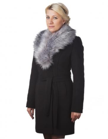 Бренд пальто зимнее (черное)