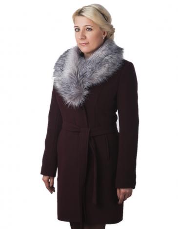 Бренд пальто зимнее (гранат)