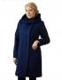 Москвичка демисезонное пальто 1  ( синий )