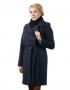 Белла демисезонное пальто ( синий )