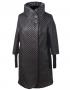 Эльза стеганное демисезонное пальто (черное)