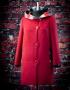 Сальма демисезонное пальто (бордо)