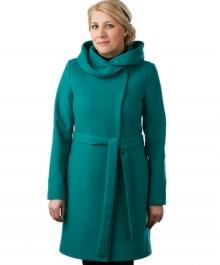 Москвичка демисезонное пальто  (изумруд )