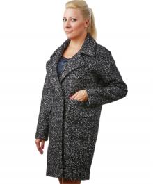 Эстель демисезонное пальто (черное)