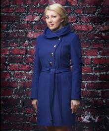 Алиса демисезонное пальто (василек)