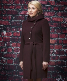 Алиса демисезонное пальто (гранат)