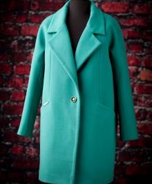 Типаж демисезонное пальто (изумруд)