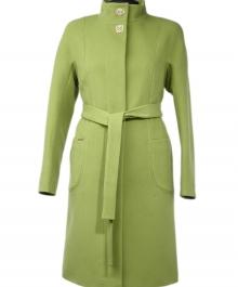 Тренд демисезонное пальто (олива)